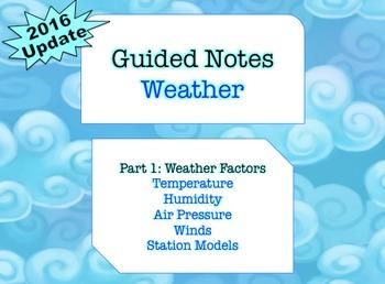 NOTES BUNDLE - Weather Factors *EDITABLE* w/ PowerPoint!