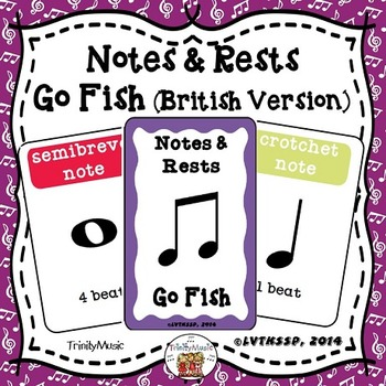 Notes and Rests (British Version) Go Fish Game