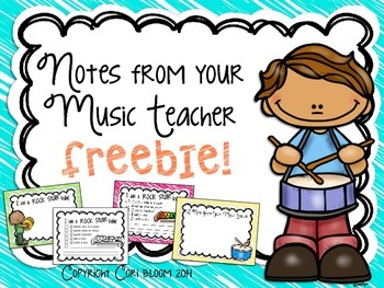 Notes from your Music Teacher FREEBIE
