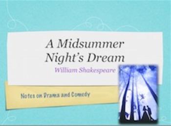 Notes on A Midsummer Night's Dream