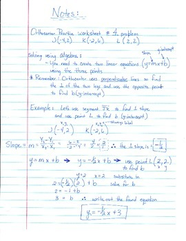 Notes on finding the Orthocenter