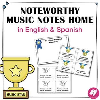 Music Notes Home with Spanish!