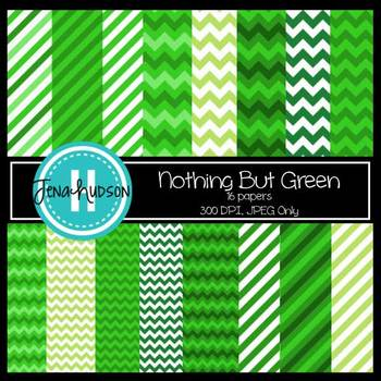 Nothing But Green Digital Paper