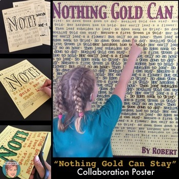 Robert Frost Nothing Gold Can Stay Poster - Great National