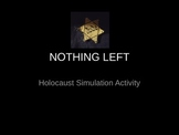 Nothing Left: Holocaust Simulation Activity/Intro To Anne
