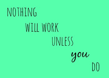 Nothing Will Work Unless You Do Printable Poster