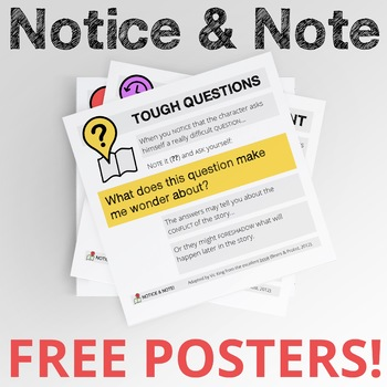 Notice & Note Signposts Posters (FREE)