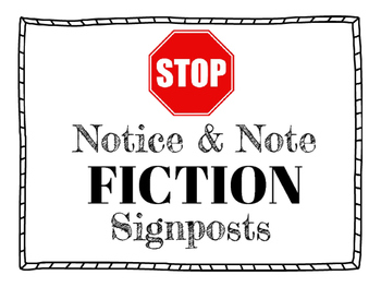 Notice & Note Fiction Sign