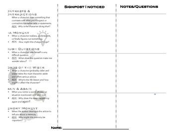 Notice & Note Folding Student  Bookmark