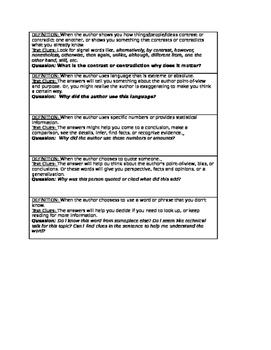 Notice & Note: Nonfiction Signposts