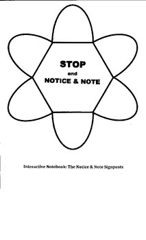 Notice and Note Interactive Foldable
