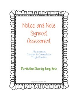 Notice and Note Signpost Assessment NO PREP