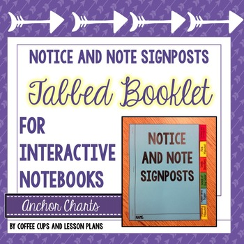 Notice and Note Signpost Tabbed Booklet - Fiction - Intera