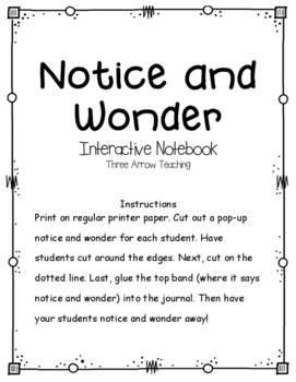 Notice and Wonder Interactive Notebook