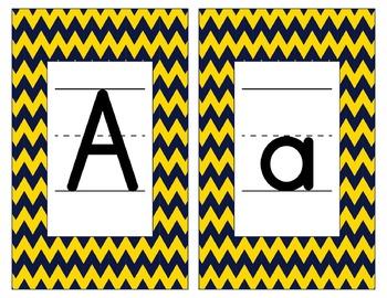Notre Dame Inspired Gold & Blue Alphabet & Number Cards fo