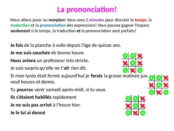 French Teaching Resources. Noughts and Crosses Warmer:  ra