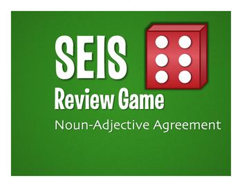 Spanish Noun Adjective Agreement Seis Game