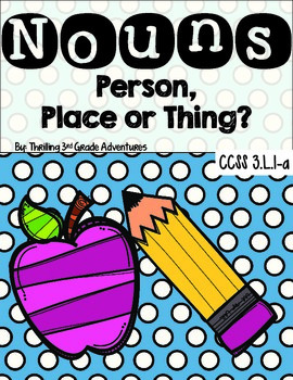 Noun Cards: Person, Place or Thing