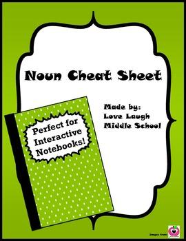 Noun Cheat Sheet