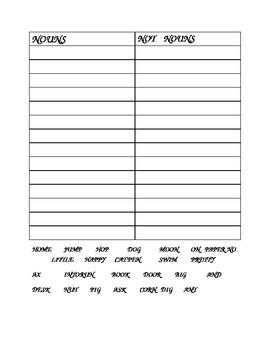 Noun Classification-First Grade Nouns
