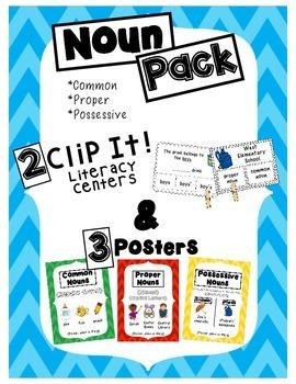 Noun Pack- Common, Proper and Possessive Nouns- Centers an