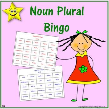 Noun Plural Bingo Games