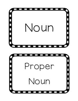 Noun-Proper Noun-Verb-Adjective Sort