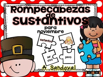 Noun Puzzles for NOVEMBER in Spanish
