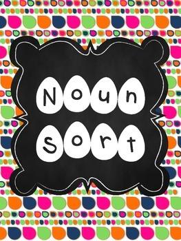 Noun Sort File Folder Activity/Station