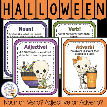 Halloween Noun or Verb? Adjective or Adverb? Halloween Lit