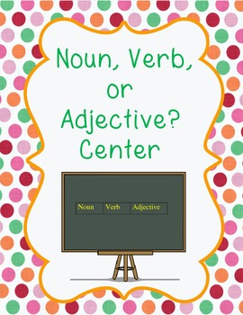 Noun, Verb, Adjective Center