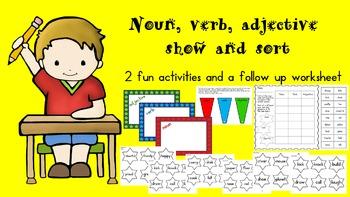 Noun, Verb, Adjective Show and Sort