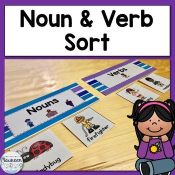 Noun and Verb Sort and Printables