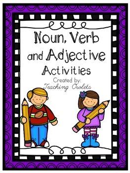 Noun, Verb, and Adjective Activities