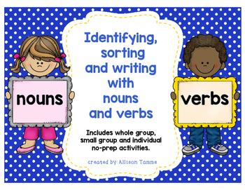 Noun & Verb Sorting Activity