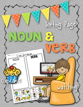 {Noun and Verb} Picture/Word Sort: Supports Common Core EL