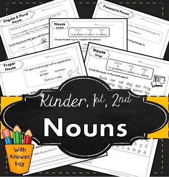 Nouns for kindergarten, first grade, second grade