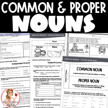 Common and Proper Nouns Activities with Interactive Notebo