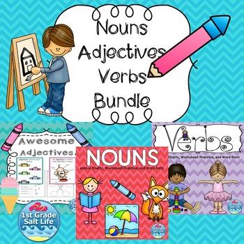 Nouns Adjectives and Verbs / Grammar Practice