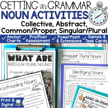 Nouns Posters and Activities