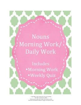 Nouns Morning Work / Daily Work