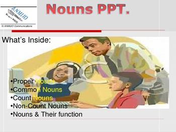 Nouns Power Point Presentation