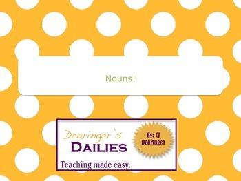 Nouns PowerPoint Presentation Week 1
