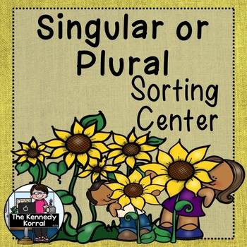 Word Work - Singular or Plural Nouns Sort {ABC Order, Anch