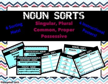 6 Noun Sorts - Singular, Possessive, Common, Proper, Possessive