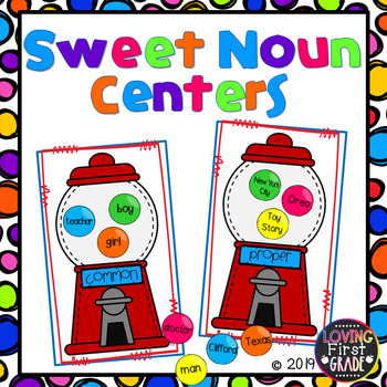 Nouns, Sweet Nouns! (4 Noun Centers)