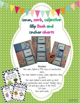 Nouns, Verbs, Adjectives: A Flip Book and Anchor Charts