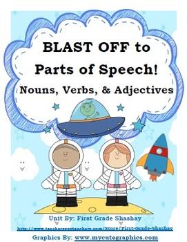 Nouns, Verbs, & Adjectives- Kindergarten/1st Grade