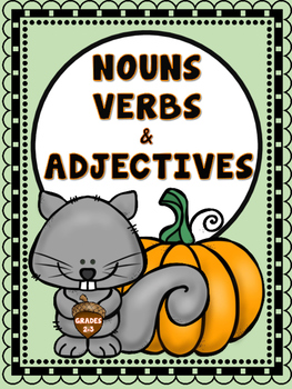 Nouns, Verbs and Adjectives - New Autumn Themed Printables