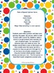 Nouns, Verbs and Adjectives Spinner Game